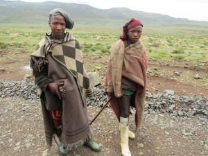 Young Basotho shepherds