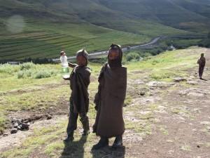 Young Basotho children