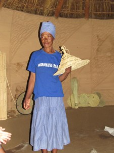 Woman with Basotho hat