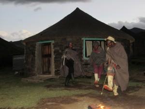 Men doing the gumboot dance