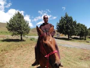 Me riding a Basotho pony