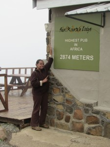 Me at the highest pub in Africa