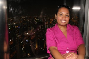 Me at the top of the Burj Khalifa