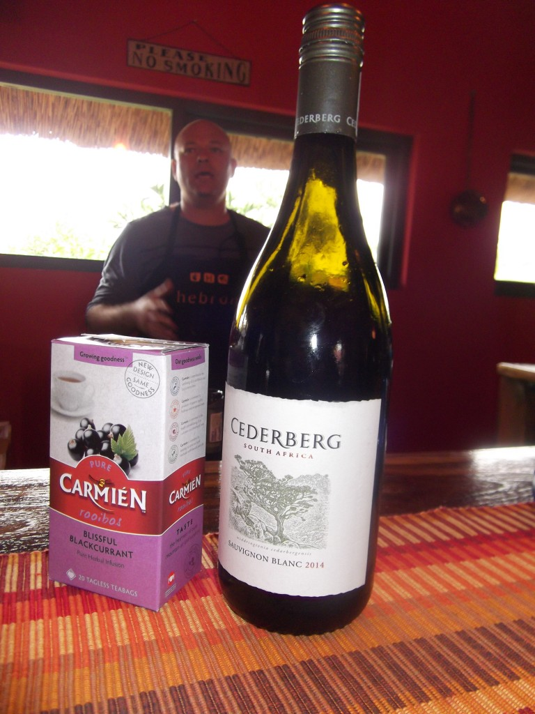 Rooibos tea and wine tasting at Hebron