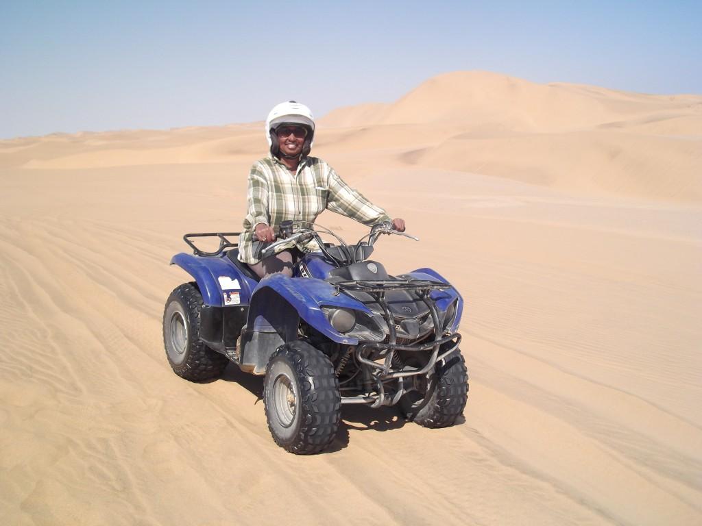Quad biking in the sand dunes