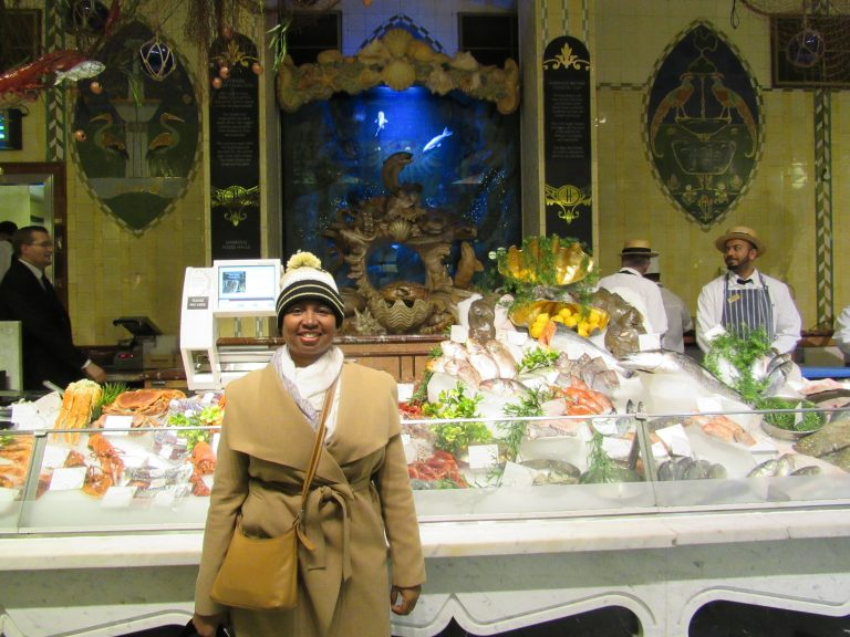 Me at Harrod's of London